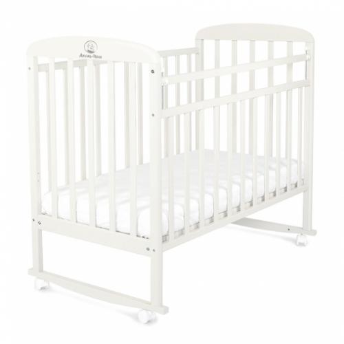 Кровать детская МИЛАНА (колесо, качалка, опуск.планка)