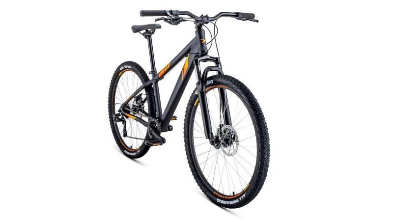 Велосипед FORWARD 26 TORONTO 2.0 DISK, 7 ск., 2019-2020, (рама 14) чёрный
