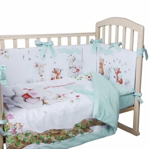 Комплект в кроватку 5 предм. ЦИРК