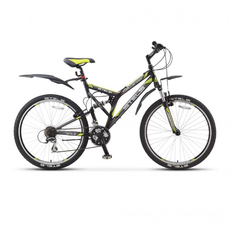 Велосипед 26 Stels Challenger V Z010 (рама 20) Чёрный/зеленый