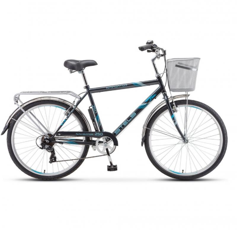 Велосипед 26 Stels Navigator 250 Gent 7-ск. (+КОРЗИНА) Z010 Серый