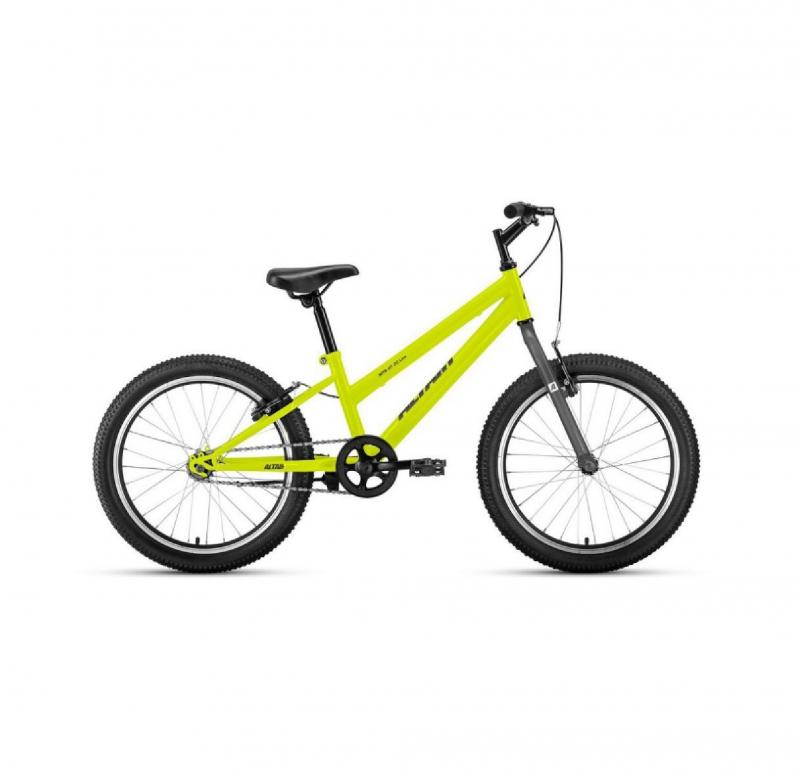 Велосипед FORWARD 20 ALTAIR MTB HT 1.0 1ск, 2019-2020, (рама 10,5) зеленый/серый