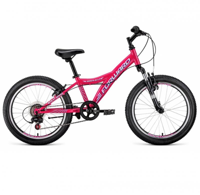 Велосипед FORWARD 20 DAKOTA 1.0 6ск (рама 10,5) розовый/голубой