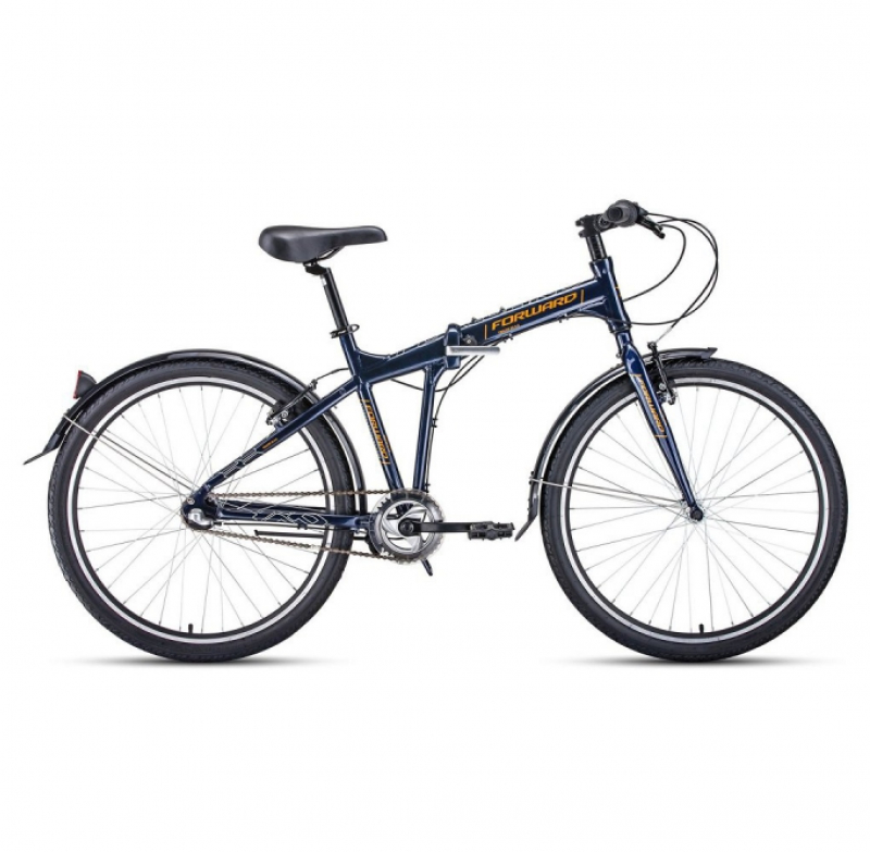 Велосипед FORWARD 26 TRACER 3.0 складной, 3ск синий/оранжевый
