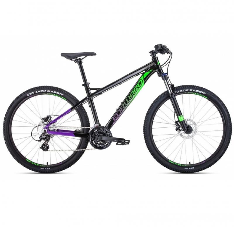 Велосипед FORWARD 27,5 QUADRO 3.0 DISK 24ск., 2019-2020, (рама 17) черный