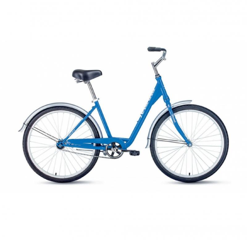 Велосипед FORWARD 26 GRACE 1.0, 1 ск., 2019-2020, (рама 17) синий/белый