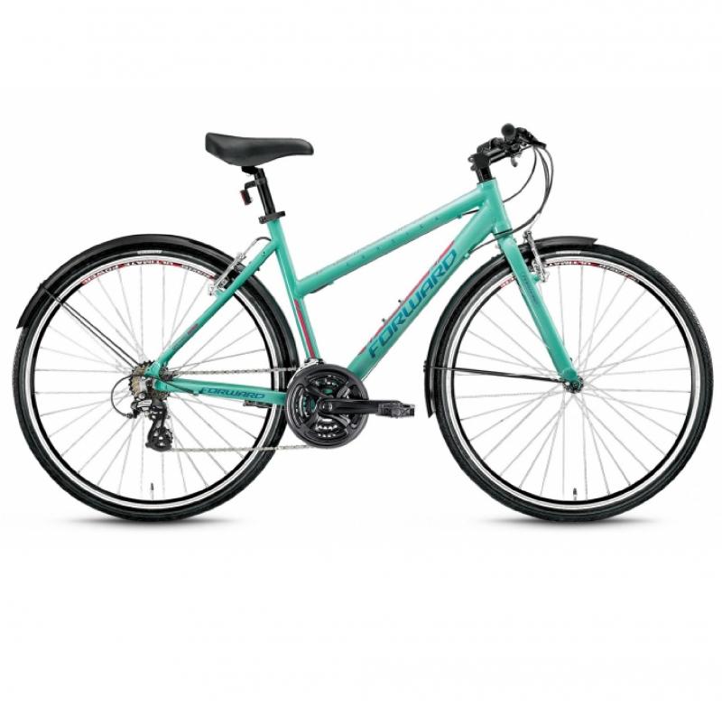 Велосипед FORWARD 28 CORSICA 1.0, Алюм., 21 ск., зелёный