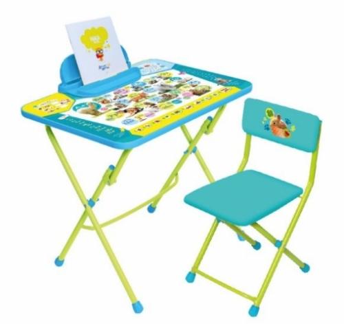 Набор мебели Пушистая азбука (стол+стул винил + пенал)