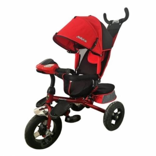 "Велосипед 3кол. Comfort-Ultra, светомуз.панель, 12/10"" кол., поворот сид., красн."