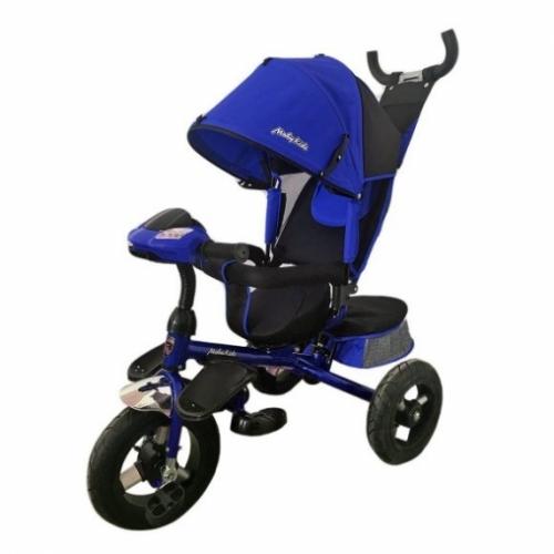 "Велосипед 3кол. Comfort-Ultra, светомуз.панель, 12/10"" кол., поворот сид., син."