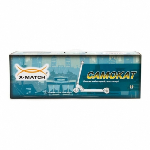 Скутер 3-кол. X-Match Cheerful, 100 мм PVC свет., красн.