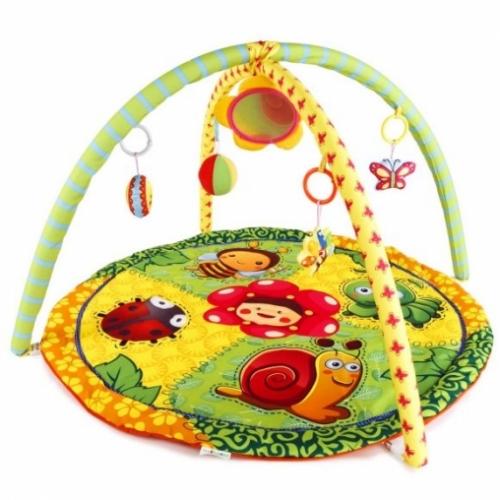 """Развивающий коврик """"Летняя полянка"""", 5 развивающих игрушек, с зеркальцем"""