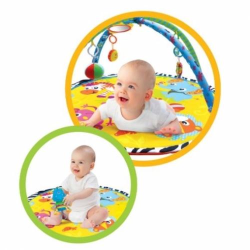 """Развивающий коврик """"Джунгли зовут!"""", 5 развивающих игрушек, с зеркальцем"""