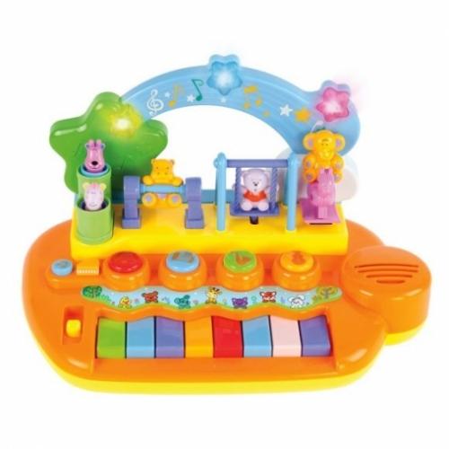 """Музыкальный центр """"Парк развлечений"""", 14 мелодий и звуков , животные на каруселях крутятся"""