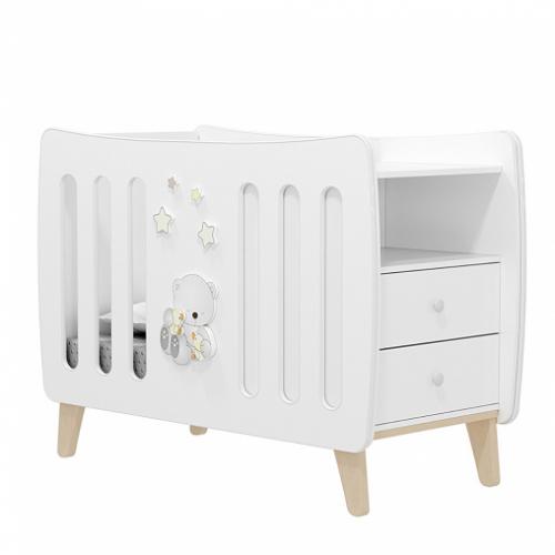 Кровать детская AMICI CARO (с выдвигающимся комодом)
