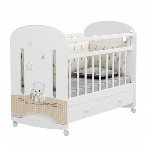 Кровать детская AMICI NUVOLA (колесо-качалка с ящиком)
