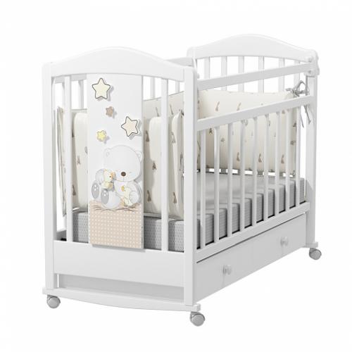 Кровать детская AMICI PRIMA (колесо-качалка с ящиком)