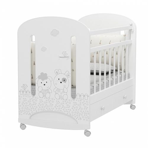 Кровать детская FATTORIA NUVOLA (колесо-качалка с ящиком)