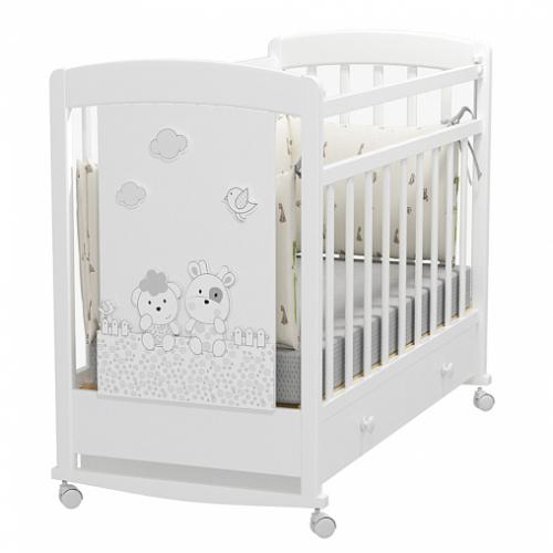 Кровать детская FATTORIA PRIMA (колесо-качалка с ящиком)
