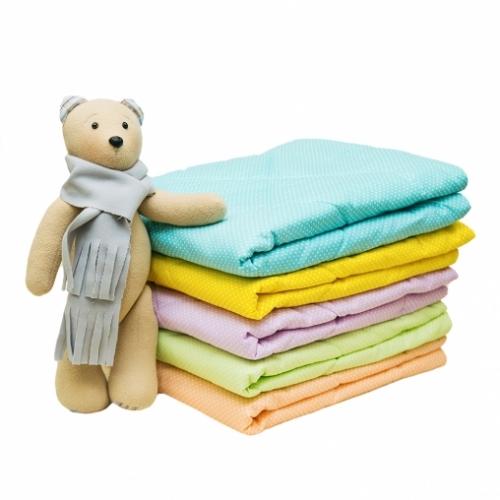 Одеяло детское стёганное (ОШБ-3) 110*140 шерсть 300 гр, бязь отечественная