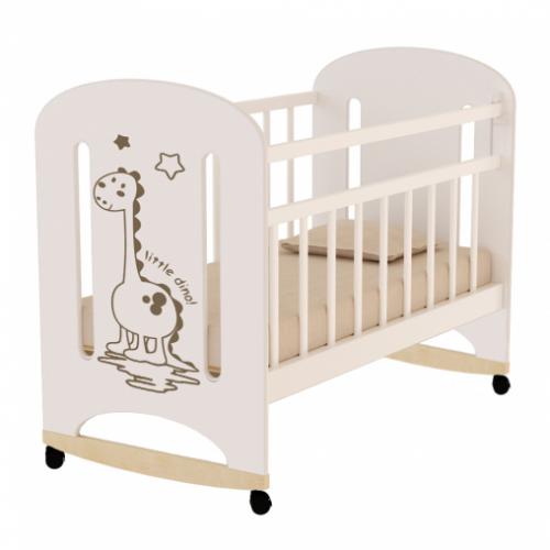 Кровать детская DINO, колесо-качалка