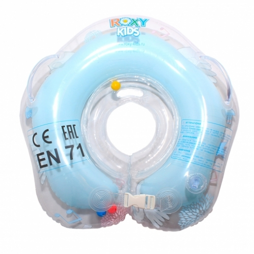 Круг для плавания FLIPPER 0+ с музыкой ЛЕБЕДИНОЕ ОЗЕРО голубой