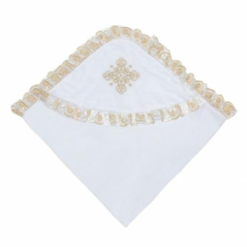 Уголок для крещения с золотой вышивкой