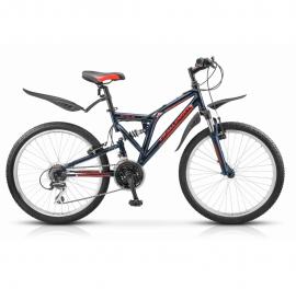 Велосипед 24 Stels Challenger V Z010 (рама 16) Чёрный/красный