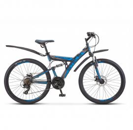 Велосипед 26 Stels Focus MD V010 (рама 18) Чёрный/синий 21-ск