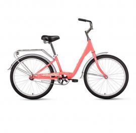 Велосипед FORWARD 24 GRACE, 1 ск., 2019-2020, (рама 13) коралловый/бежевый