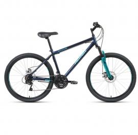 Велосипед FORWARD 26 ALTAIR MTB HT 2.0 DISK, 18ск., 2019-2020, (рама 17) темно-синий/бирюзовый