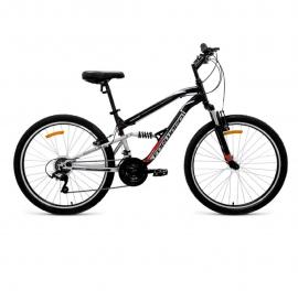 Велосипед FORWARD 26 BENFICA 1.0 ДвухПодвес 18ск (рама 16) чёрный матовый