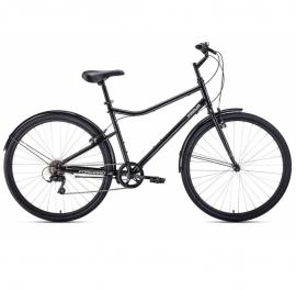 Велосипед FORWARD 28 PARMA, 7 ск., 2019-2020, (рама 19) чёрный/белый