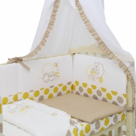 Комплект в кроватку Polini Disney ВИННИ И ЕГО ДРУЗЬЯ 7 предм.