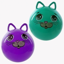 Мяч прыгун 50 см Котенок, с ушками, в ассорт.