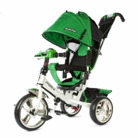 "Велосипед 3кол. Comfort, светомуз.панель, 12/10"" кол., зелен."