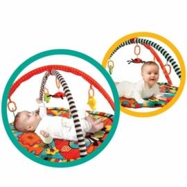 """Развивающий коврик """"Ушастики"""" с 6-ю развивающими игрушками, шуршалкой и пищалкой"""