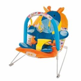 """Кресло-качалка """"Жирафик"""" с 3-мя развивающими игрушками, вибрацией и музыкой"""