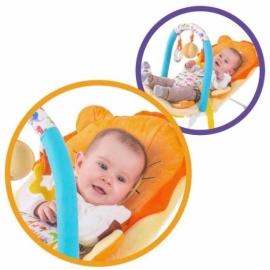 """Кресло-качалка """"Львёнок"""" с 3-мя развивающими игрушками, вибрацией и музыкой"""