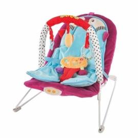 """Кресло-качалка """"Пингвинёнок"""" с анатомической вкладкой, вибрация, музыка, 3 развивающие игрушки."""