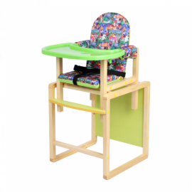 Стол-стул для кормления ДЖУНГЛИ лайм